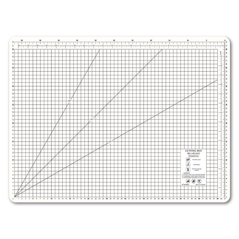 A2 milky white environmental protection cutting pad student table mat office stationery school office design gift gift