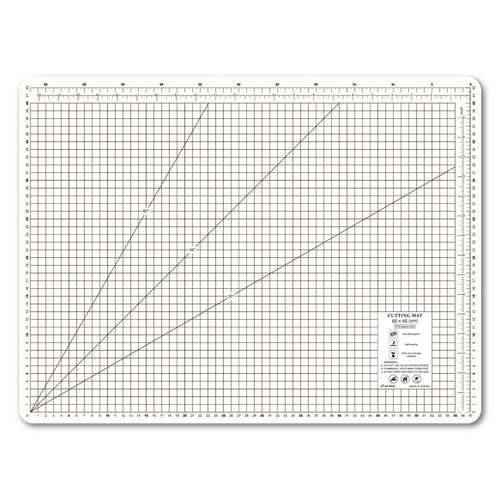Lightweight odorless cutting pad (A2) milky white translucent / art professional use