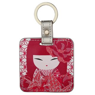 And blessing doll KAZUNA / leather key ring