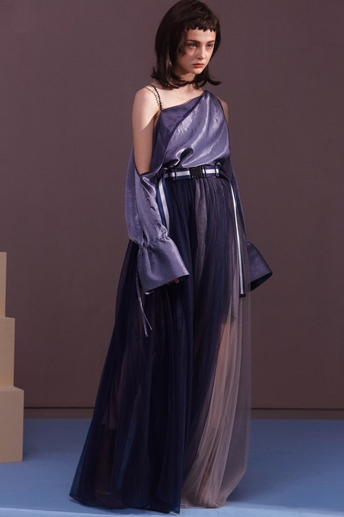 ENVOL AVEC NING long shoulder shawl skirt dress