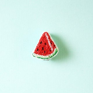 a piece of watermelon     handmade embroidery pin
