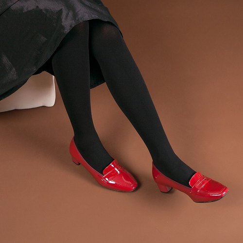 Yuzhongjijing] [last PENNY waterproof small square low-heeled loafers - Alice Hung