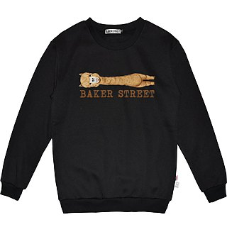British Fashion Brand -Baker Street- Alpaca with Long-Neck Printed Sweater