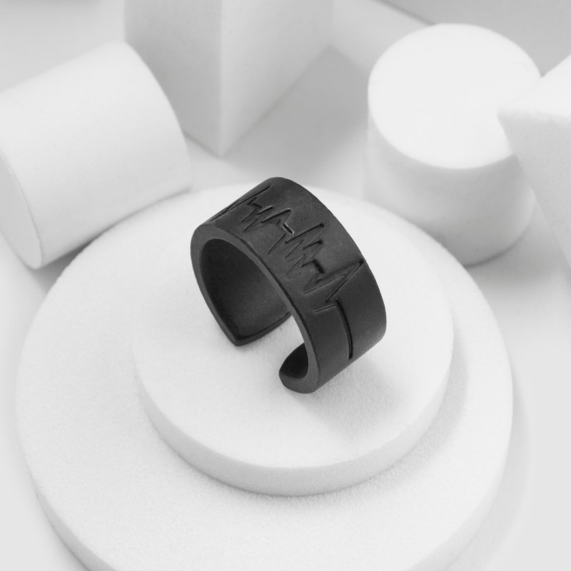 Recovery ECG Ring (Fog Black)