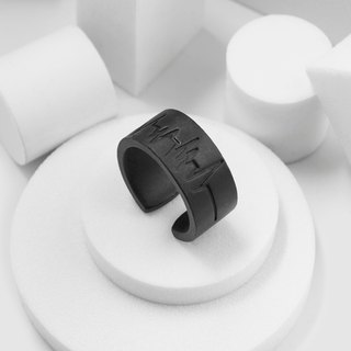 ECG Ring (Fog Black)