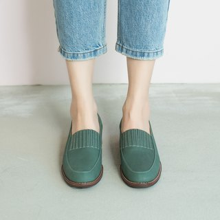 No heavy and light bottom! Elastic small apron Lok Fu shoes water duck green inside and outside full leather MIT