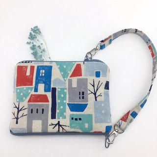 Fantasy Country House - Double Sided Zip Magic Bag - Handbag/Mobile Phone Bag/Passport Bag/Cosmetic Bag