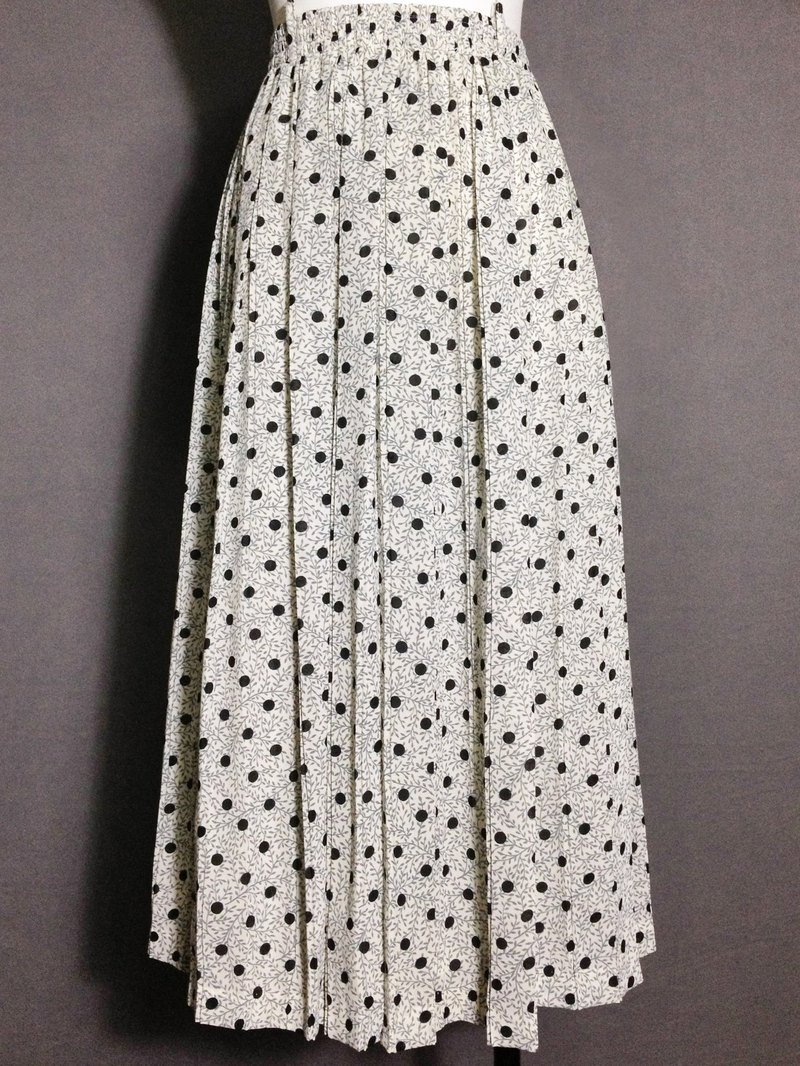 Ping-pong vintage [vintage skirt / Nippon little vine crimp vintage dress] abroad back VINTAGE