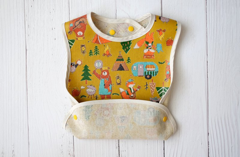 Cubs Fox Camping Anti-oil Waterproof bibs Muni Festival Growth Bib