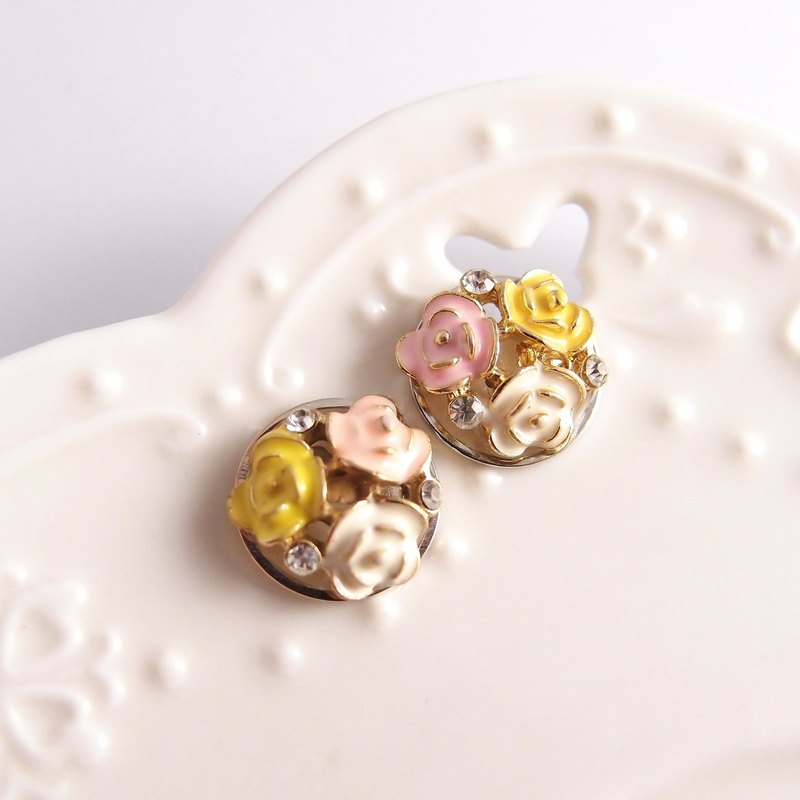 Rose Earring【Cr0196-1】