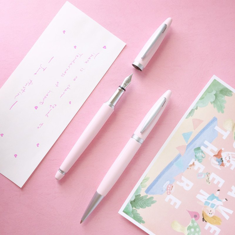 ARTEX life happy pen + ball pen double pen luxury group - marshmallow