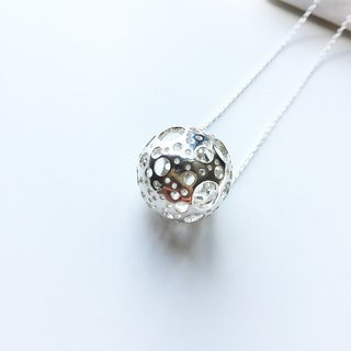 Sterling Silver Snow Ball Necklace
