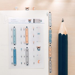 Pencil / Transparent Index Stickers