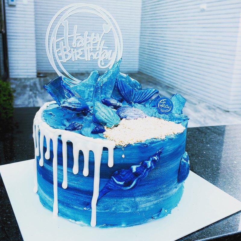 【客製化蛋糕】藍色海洋風格蛋糕