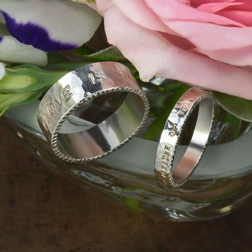 Light Jewelry Custom Love Ring - (Right) Women's Silver Ring