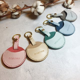Gogoro key holster / waxed leather key ring / free lettering