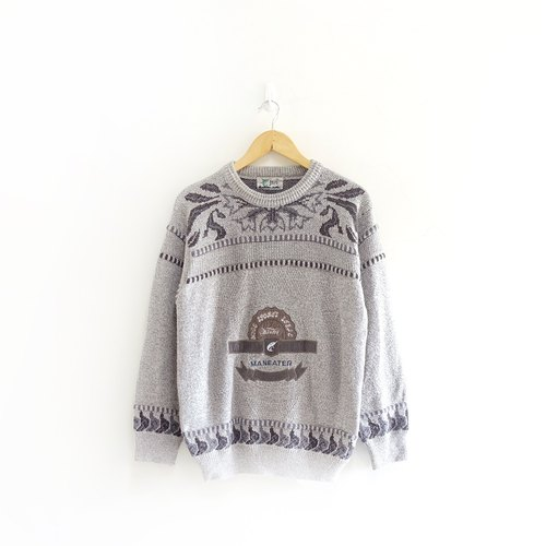 │Slowly│ Fish - vintage sweater │vintage. Vintage. Art