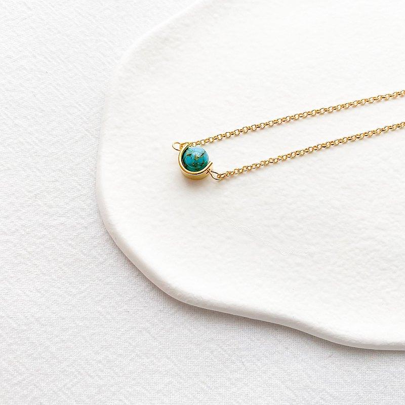 藍色行星 | 人造貝殼染色珠 | 金色手鍊