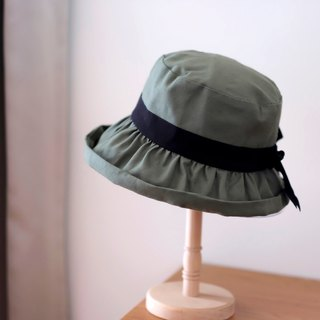 Japanese style khaki double sided fisherman hat / army green