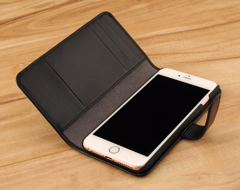 iPhone 6 plus / 6S plus (5.5吋) notebook PDA-style hard shell leather case made