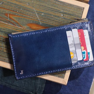 Make Your Choicesss long handmade Italian leather Card pack - light wallets