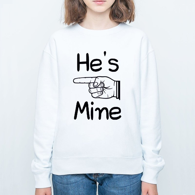 He's Mine University T bristles neutral version 2 color He is my Valentine's Day Tanabata gift lover art design text wedding
