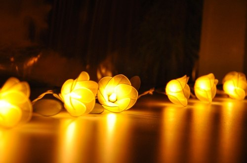 20 Yellow Flower String Lights for Home Decoration Wedding Party Bedroom Patio and Decoration