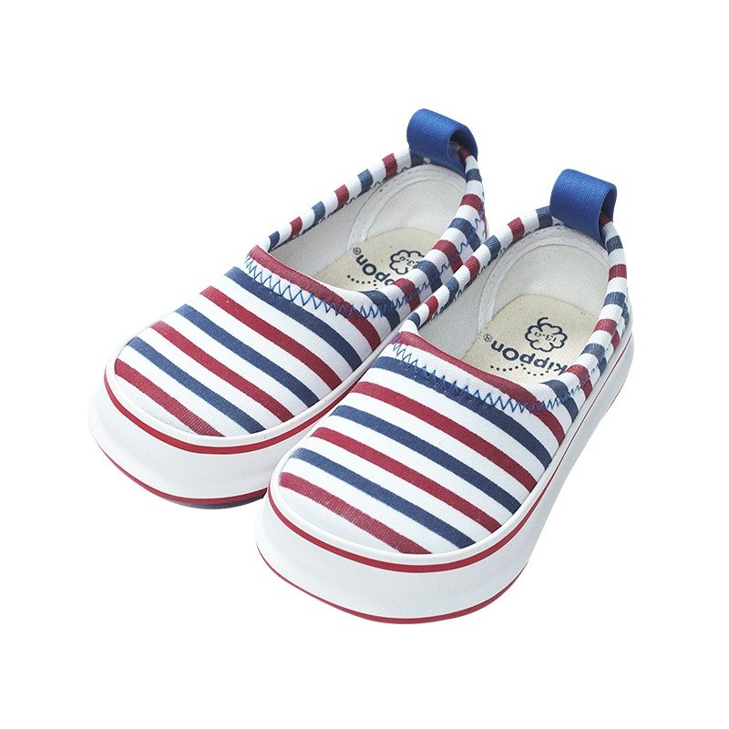 Japan SkippOn children's casual shoes - red and blue stripes (17cm)