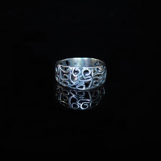[Hollow ring Series - Golden Years] handmade silver ring. Commemorative ring. Valentine's Ring