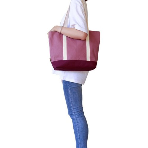 [early spring shoulder bag] canvas powder berry