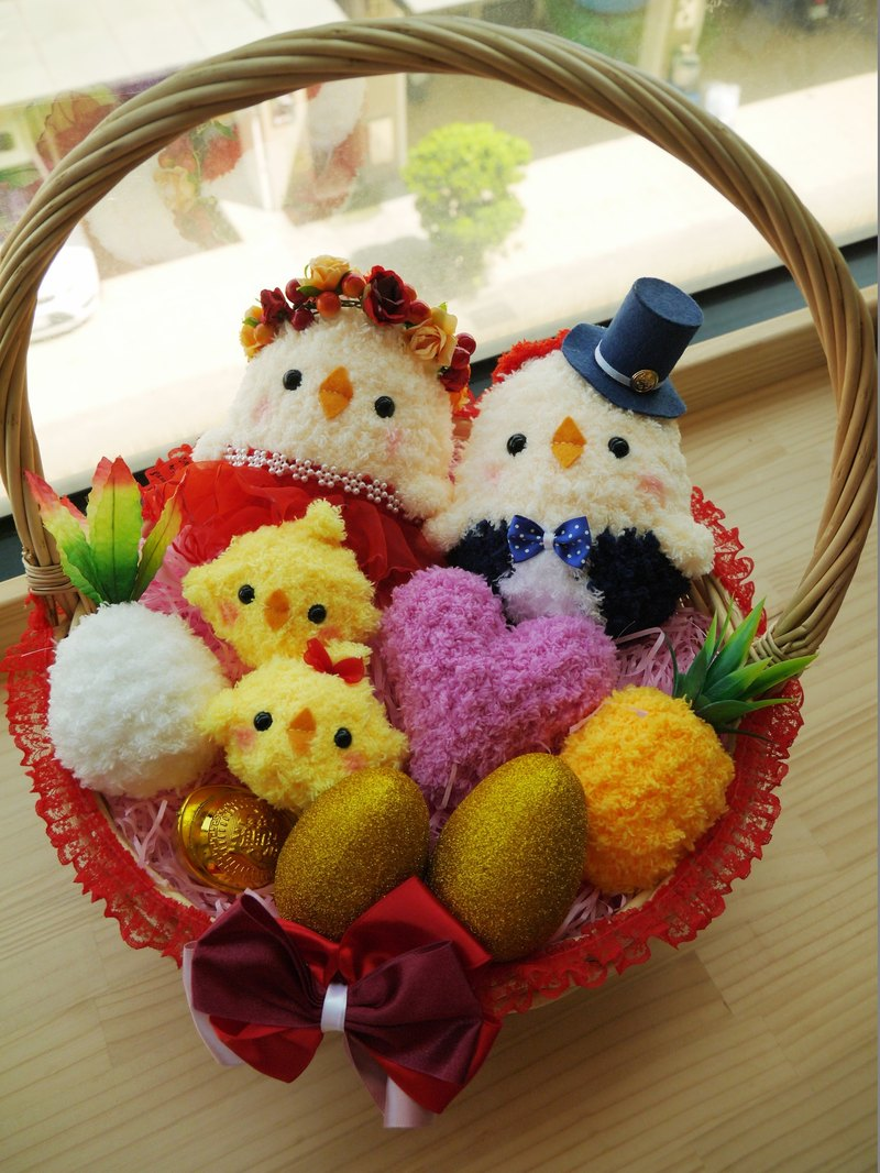 Spot - Lovely Woven Woven Bring Chicken Dolls Wedding Marriage Weddings Wedding supplies