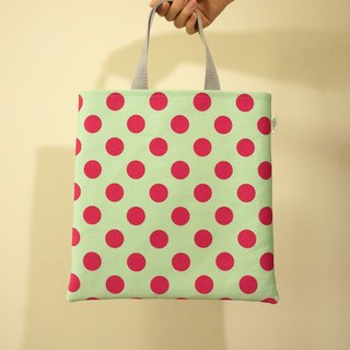 / Fun music - green / / handbag / small bag / file package