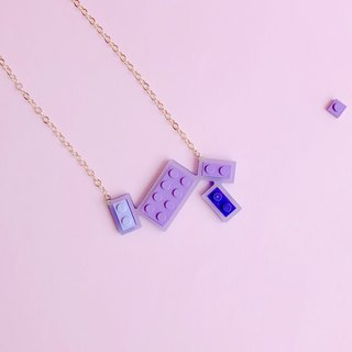 Girl  Ice Cream Purple LEGO Necklace