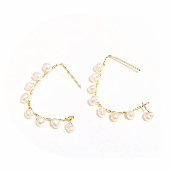 Simple & Chic Style Pearl Earrings