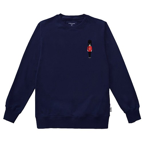 British Fashion Brand -Baker Street- Grenadier Guards Printed Sweater