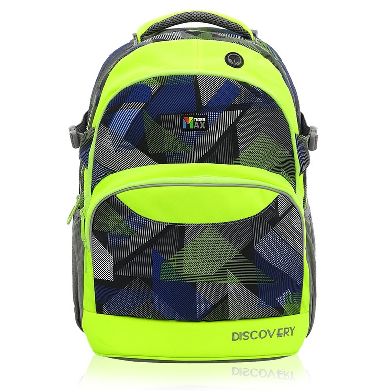 Tiger Family Explorer Adjustable Ultralight Spine Bag + Pencil Box - Fluorescent Geometry