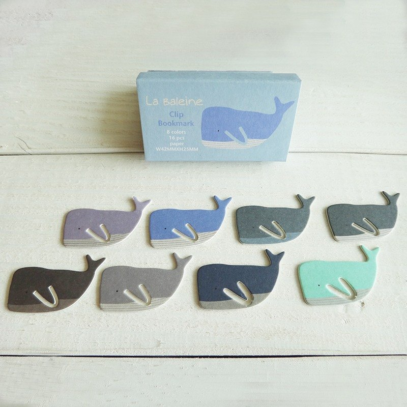 Paper clip-whale-paper products-bookmark