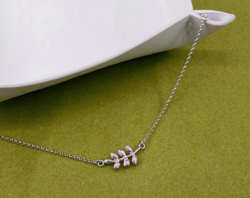 [Department of] natural leaf bracelet leaf bracelet - Silver -