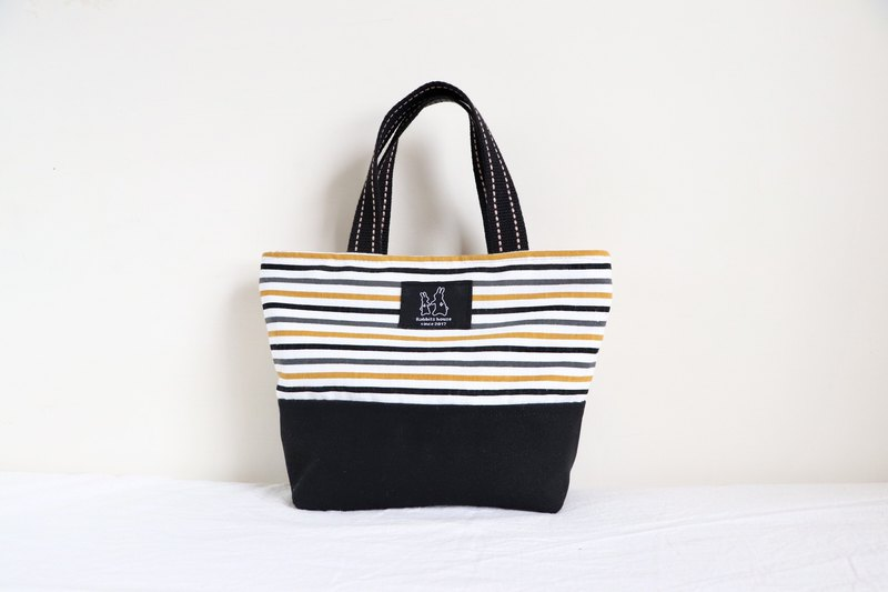 Fine woven stripe light handbag