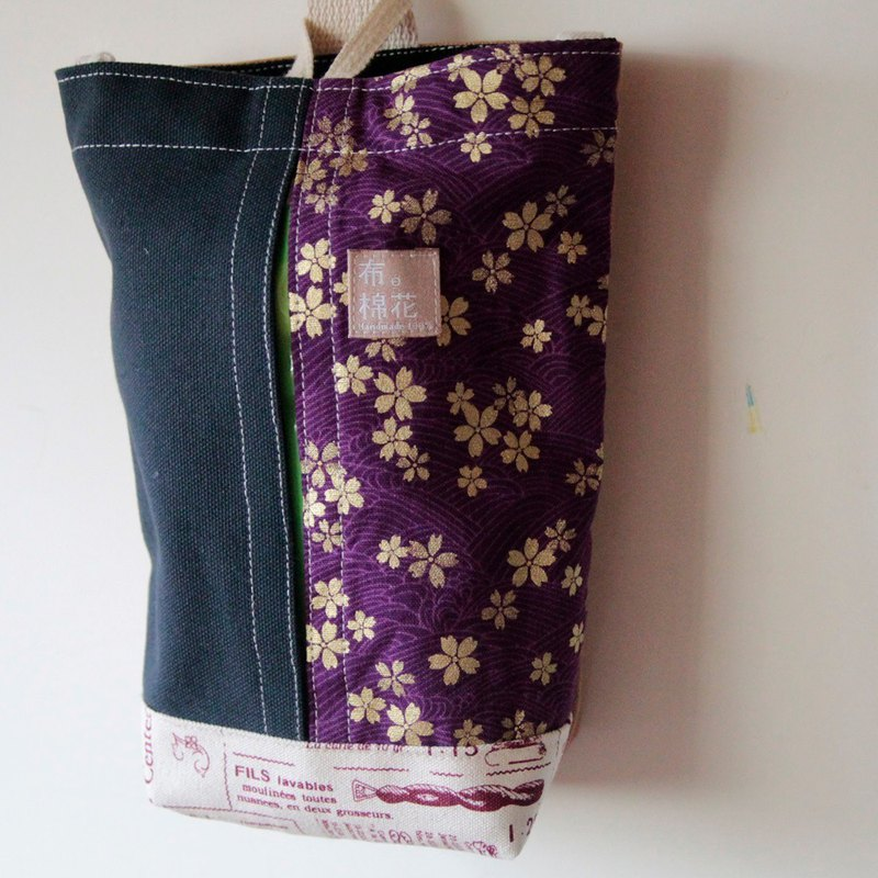 Hanging Tissue Box, housewarming,  purple Japanese style