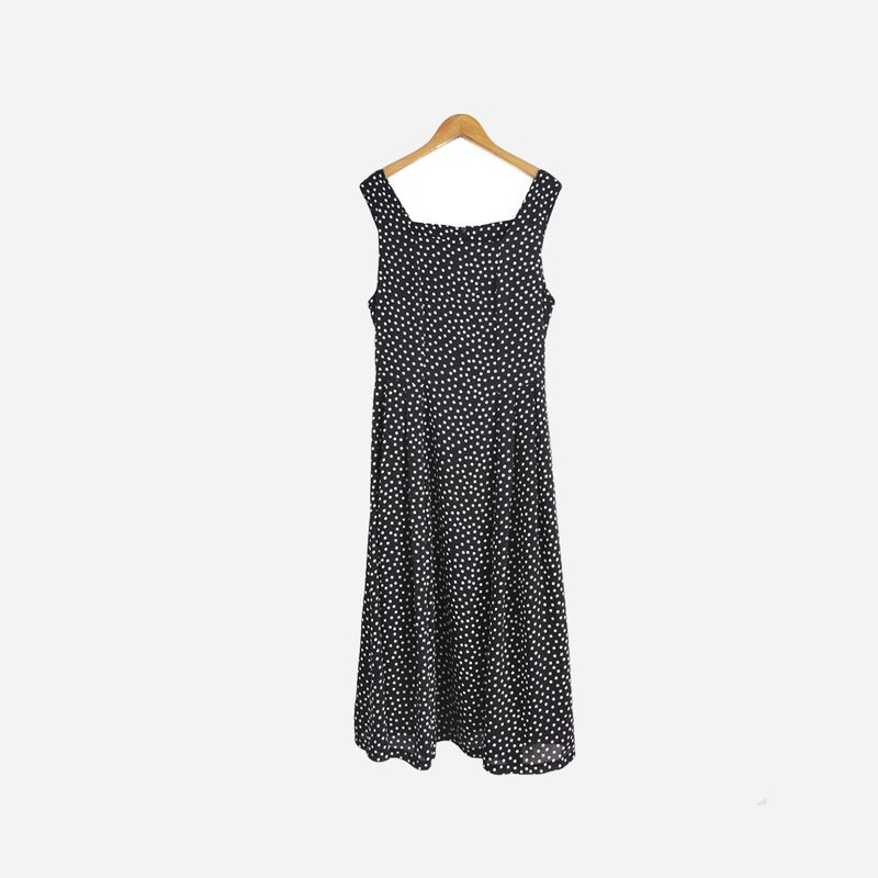 Dislocation vintage / water jade dot vest dress no.781 vintage