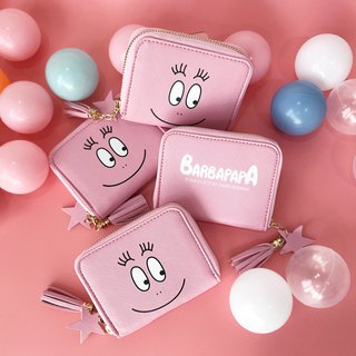 [BARBAPAPA bubble] fine leather wallet wallet short clip