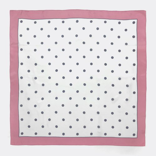 Pink Box Black Dot Antique Scarf BI0003