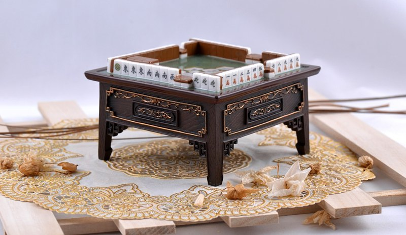 Mahjong table ashtray storage box father's day gift Wen Chuangwenqing birthday gift home decoration
