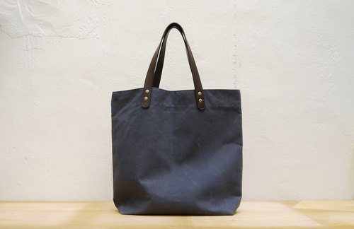 Coody waxed canvas city tote Leather Handle Opa Wax City Tote Bag
