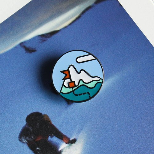 UPICK original life camping series brooch cute creative casual collar brooch