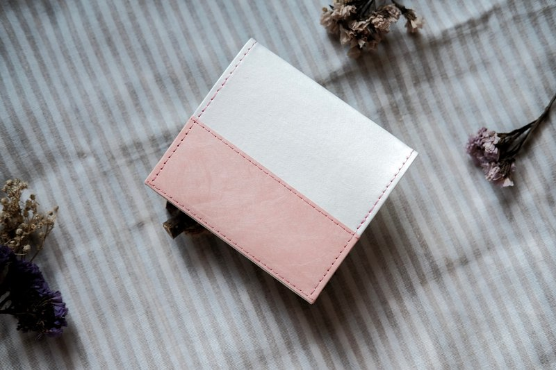 [Paper made possible] Color collection patchwork series light wallet short clip wallet