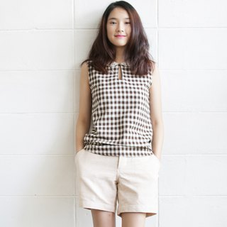 Hand Woven Natural Cotton Shorts Natural Color