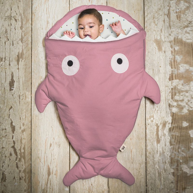[Spanish] Shark bite a BabyBites cotton baby multi-function sleeping bag - berry milk