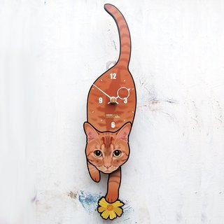 C-54 Red tabby - Pet's pendulum clock